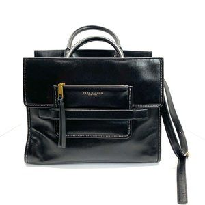Marc Jacobs Madison Leather Tote Bag Black